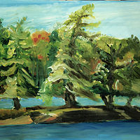 Oil painting Island Pines by Marc Brisson