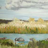 Oil painting Barrie Island Begins by Marc Brisson