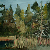 Oil painting Along the Joyce Lake Road by Marc Brisson
