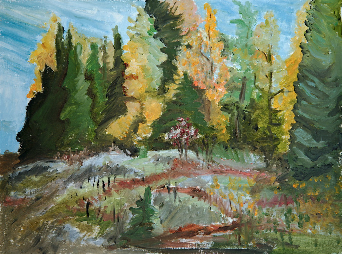 Oil painting Off Goodfish Road by Marc Brisson