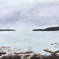 Acrylic painting Padilla Bay by Aimee Rudge