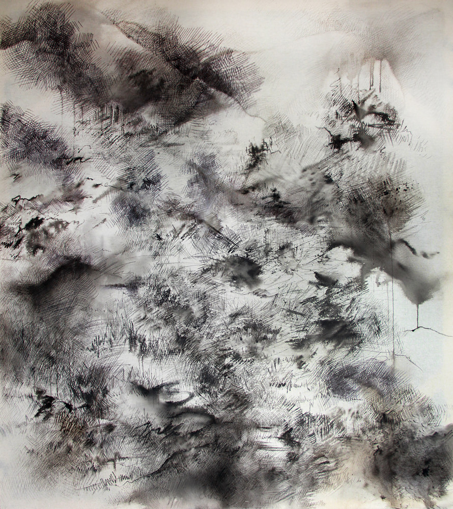 Drawing Where I Am When I Am Walking Through Mountains by Sidi Chen