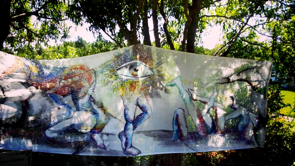 Painting Returning Path (Original Painting Installation) by Sidi Chen