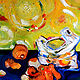 Oil painting Still Alive - Four Oranges by Sidi Chen
