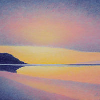 Acrylic painting Sunset Light by Anne Popperwell