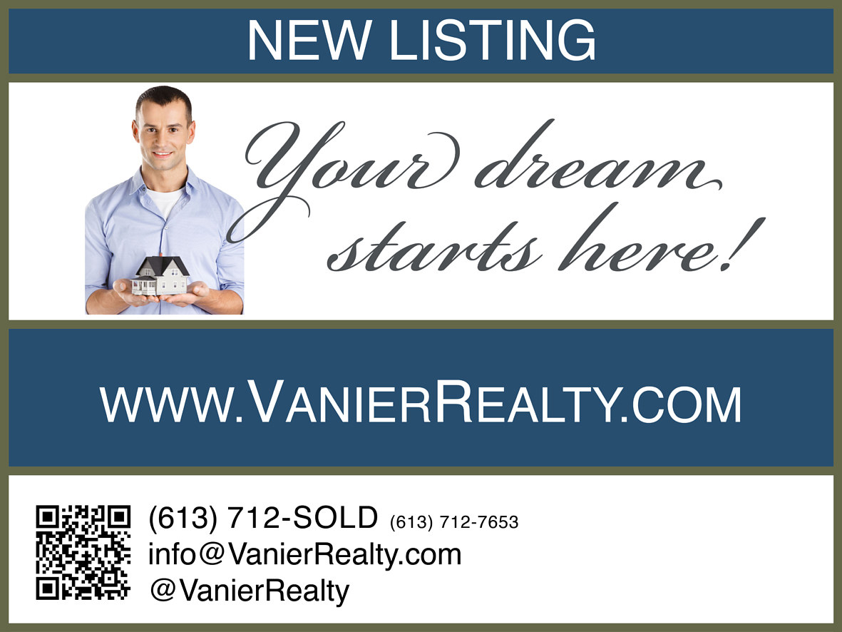 'New Listing' realty sign  by Mike Steinhauer