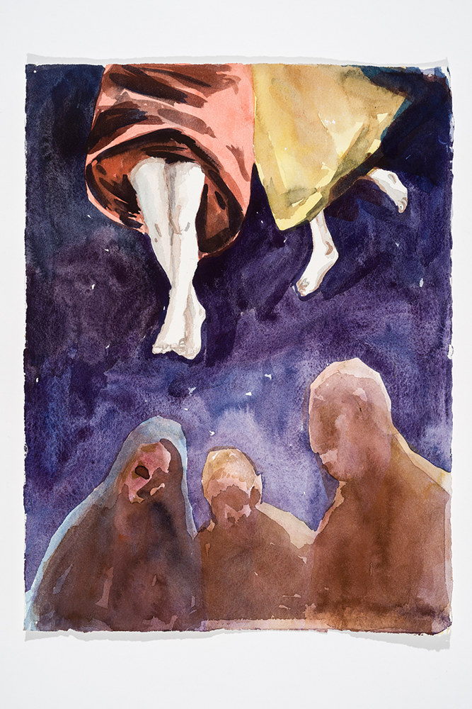 Watercolor El Greco study by Mary Hayes