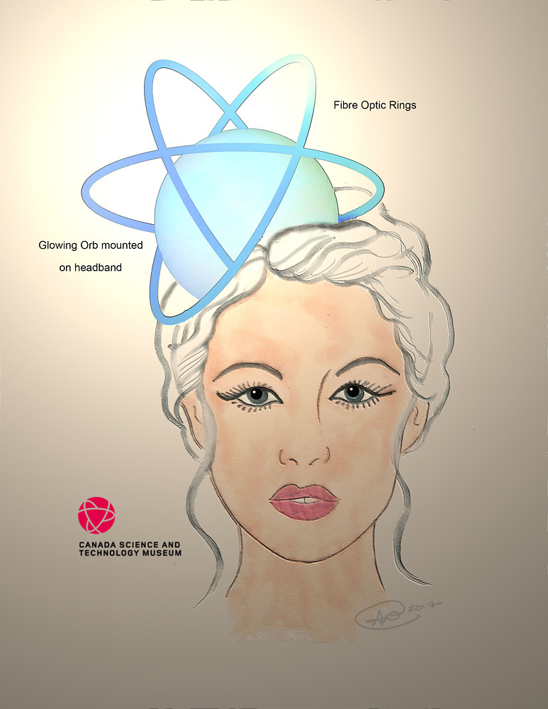 Concept sketch for fascinator 1 by Angela Dale