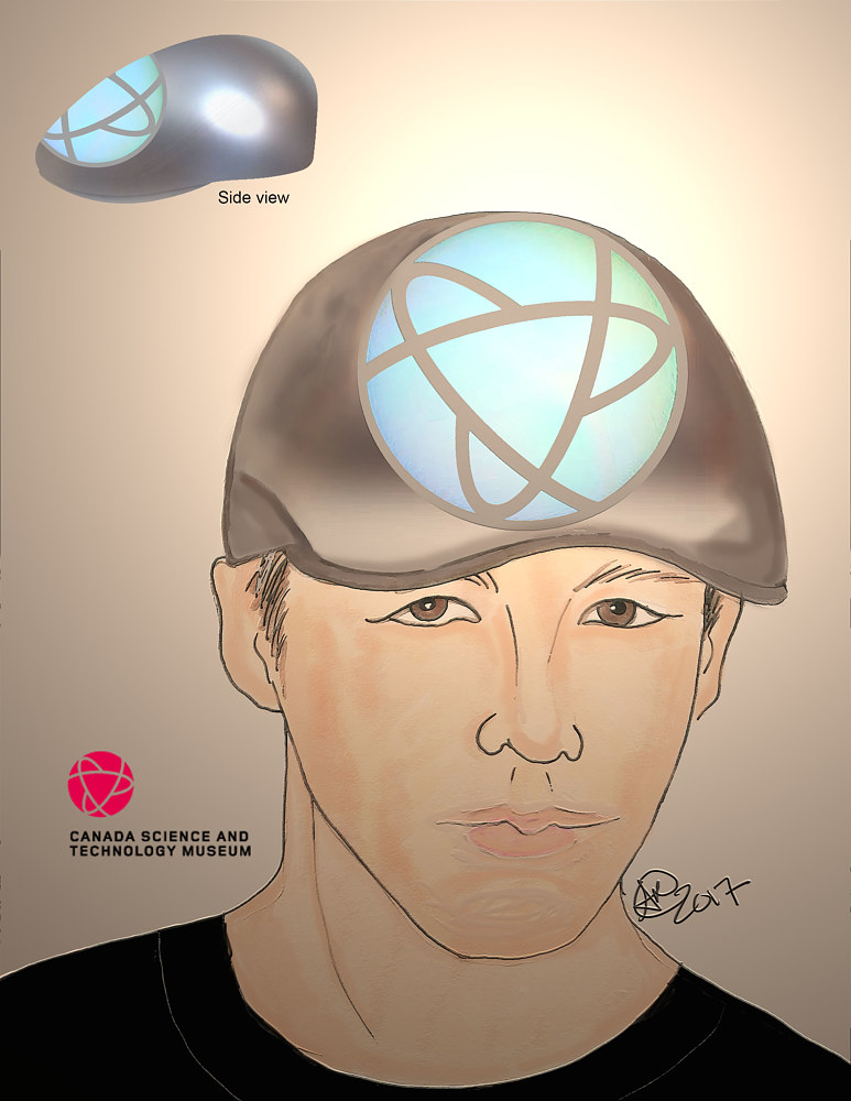 Concept sketch for Men's flat cap by Angela Dale
