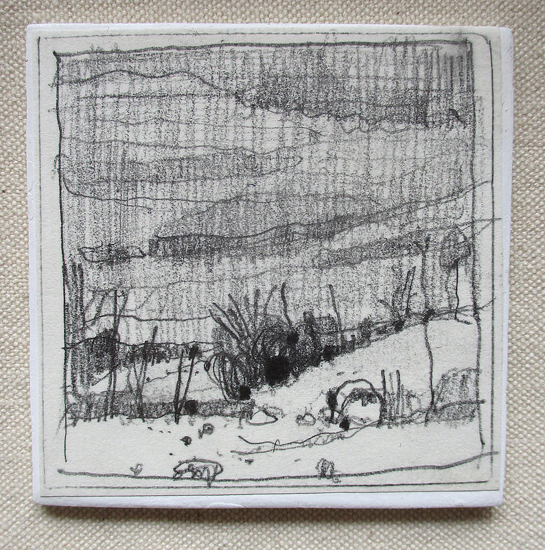 Drawing Secret Field, December 15 by Harry Stooshinoff
