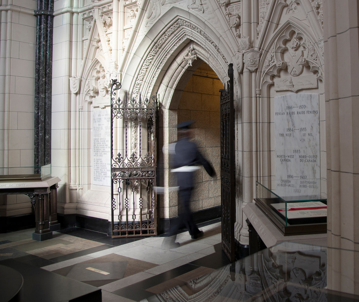Guard. Memorial Chamber. Parliament of Canada. Ottawa, ON, Canada. (2015) by Mike Steinhauer