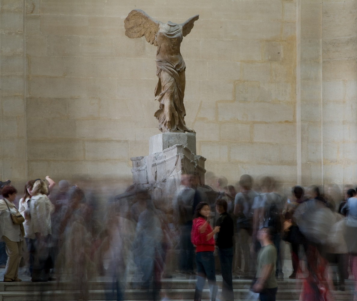 Visitors. Escalier Daru and the Winged Victory of Samothrace. Louver. Paris, France. (2008) by Mike Steinhauer