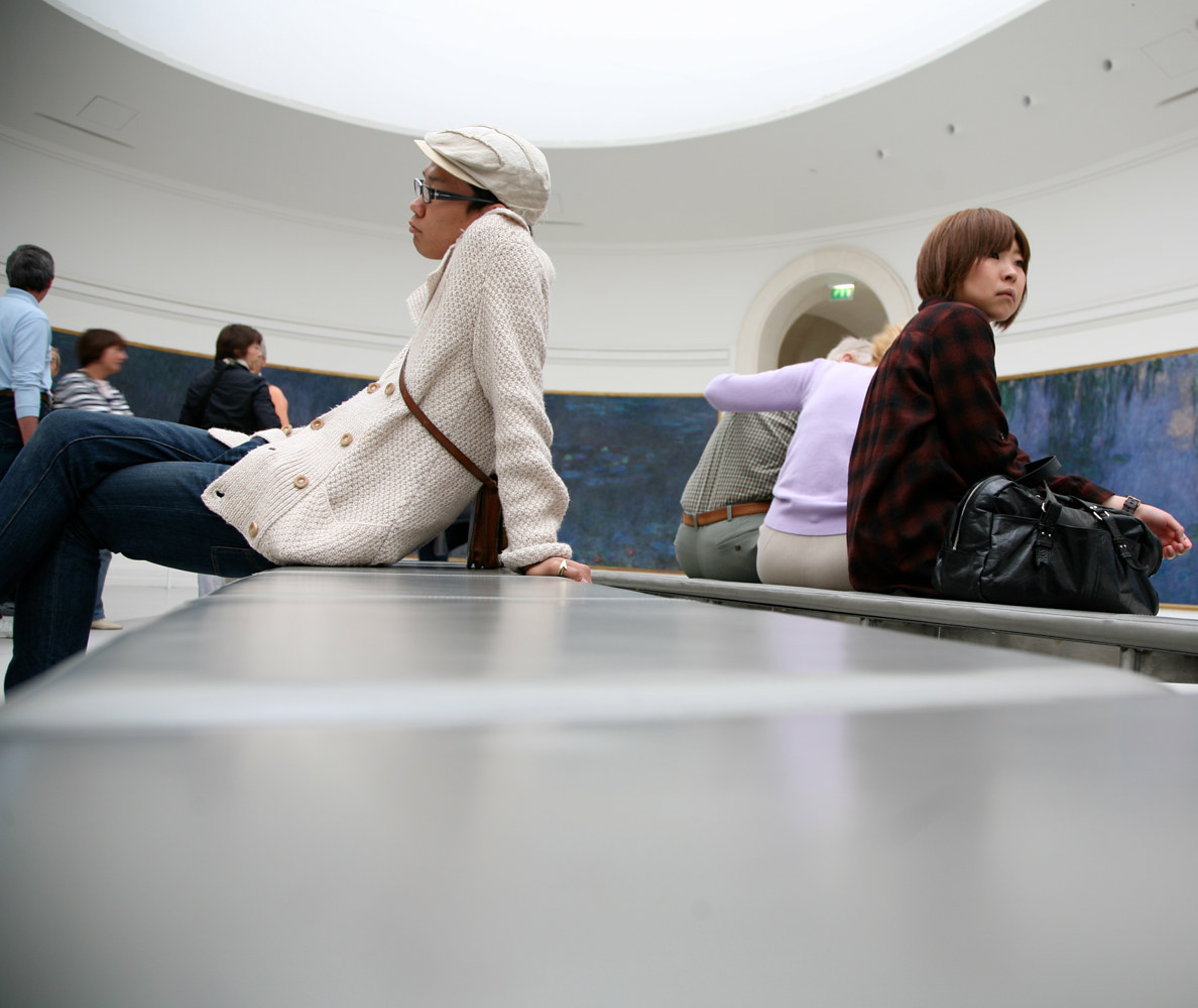 Visitors. Musée de l'Orangerie. Paris, France. (2008) by Mike Steinhauer