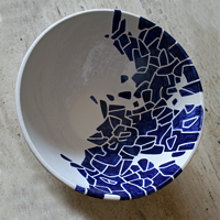 Bowl Blue and White 1 by Pedro Gonzalez