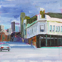 Oil painting fullerton, halsted and lincoln by Madeline Shea