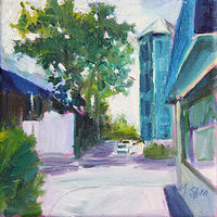 Oil painting addison and ravenswood by Madeline Shea