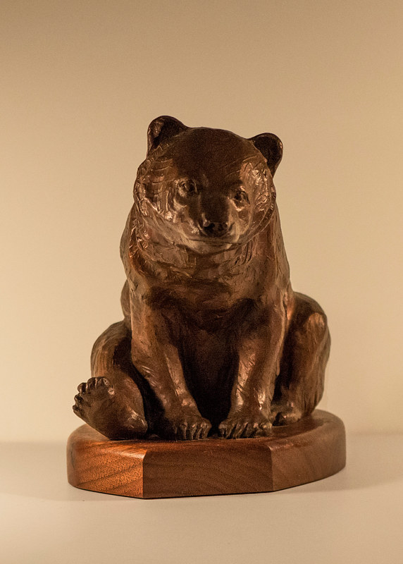 """The Grizzly Cub"" (front view) by Mark Madsen"