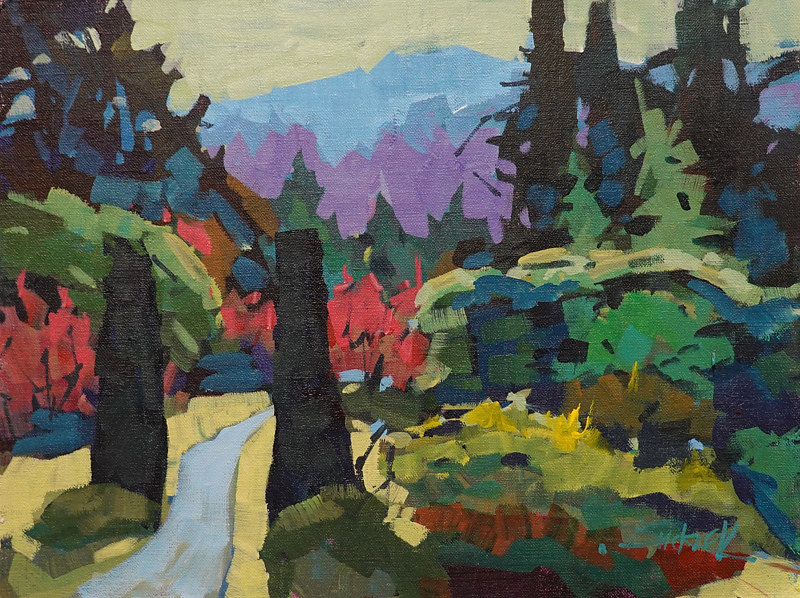 Bouchard Gardens  Shapes Acrylic 12x16 2018 by Brian  Buckrell
