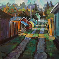 Alley Light   Acrylic 24x24 2018 by Brian  Buckrell