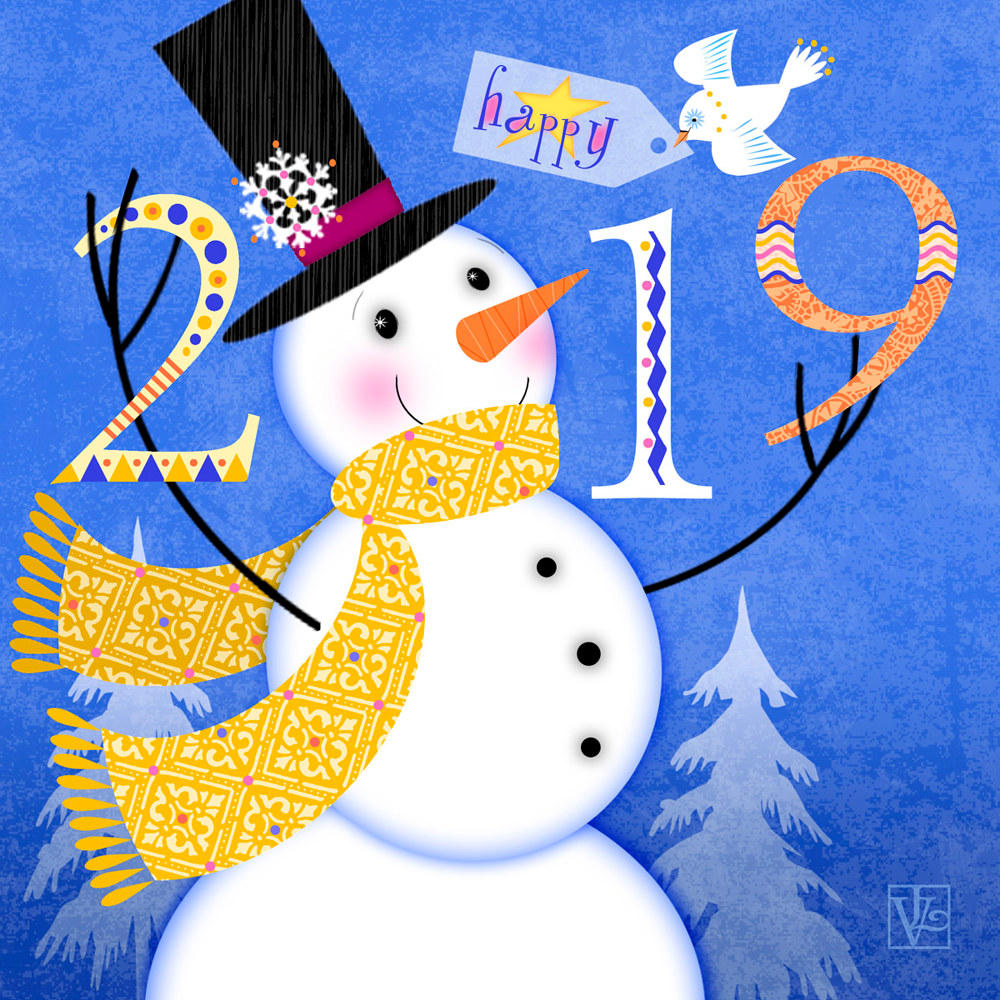 2019 New Year! by Valerie Lesiak