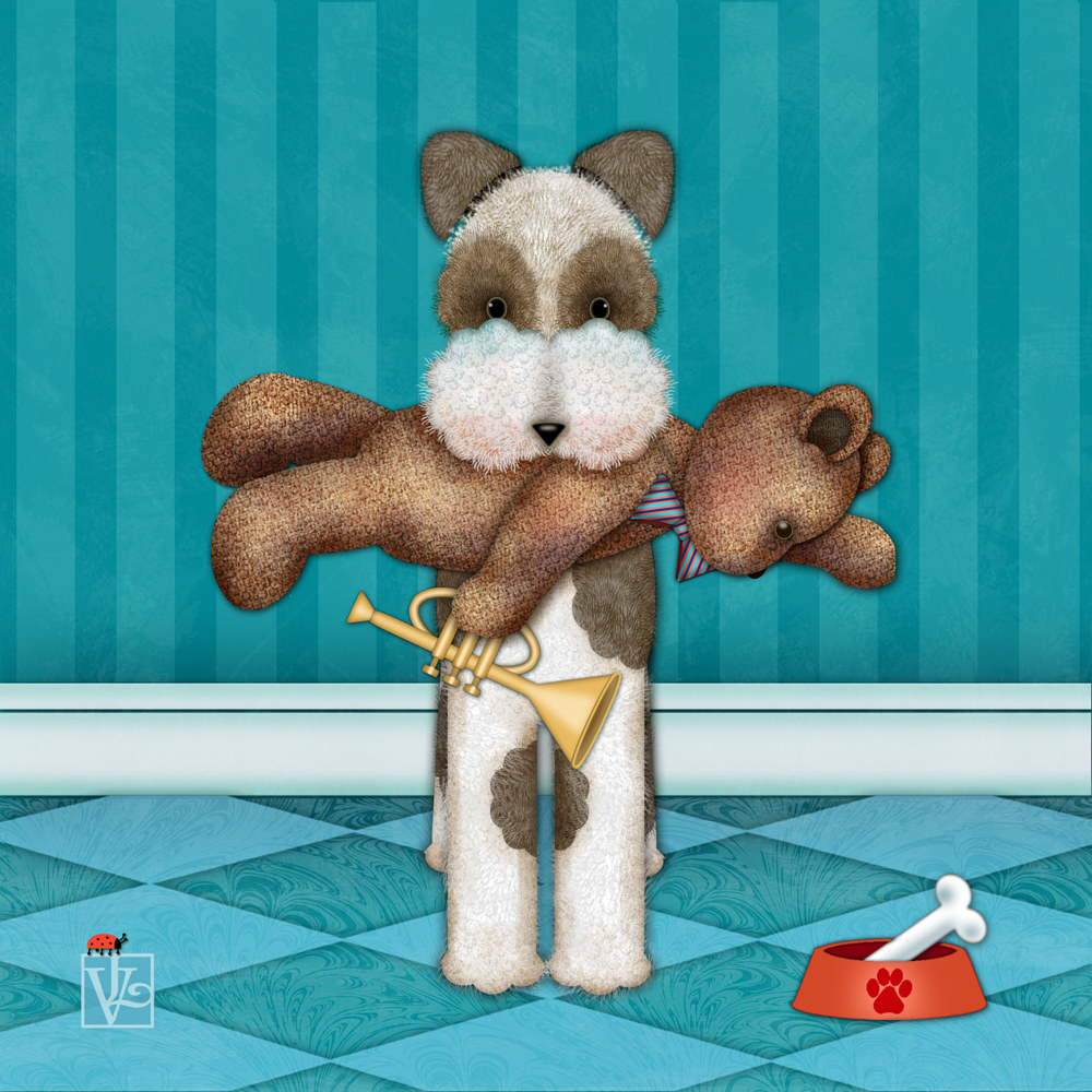 T is for Terrier and Teddy  by Valerie Lesiak