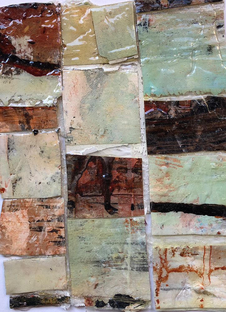 Mixed-media artwork Patchwork #1 by Guy Grogan
