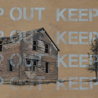 Mixed-media artwork Keep Out by David B. Scott