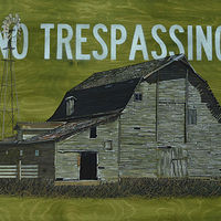 Mixed-media artwork No Trespassing by David B. Scott