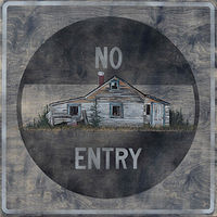 Mixed-media artwork No Entry by David B. Scott