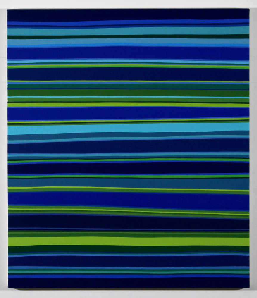 "Oil painting ""Night Stripes #1"" 2018 by Christann Kennedy"