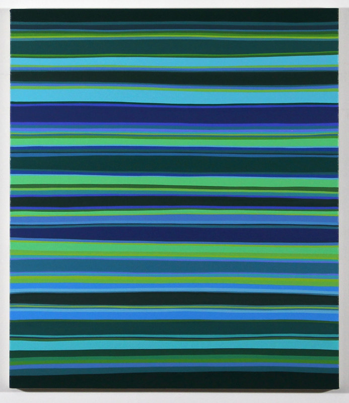 "Oil painting ""Night Stripes #2"" 2018 by Christann Kennedy"