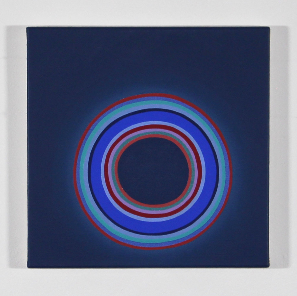 "Oil painting ""Indigo with Concentric Rings"" 2018 by Christann Kennedy"