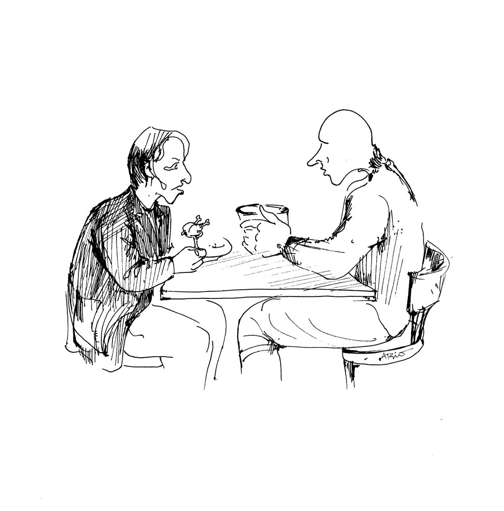 Drawing 03db200 - Conversation by Ario Mashayekhi