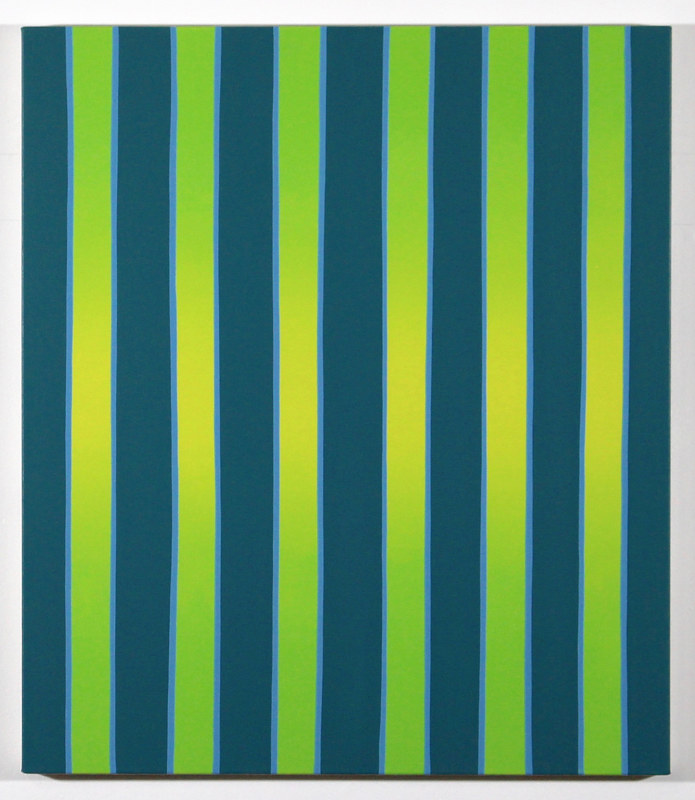 "Oil painting ""Radiant Standing Stripes"" 2018 by Christann Kennedy"