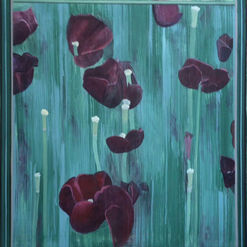 "Acrylic painting ""Field of Tulips"" by Brad Nuorala"