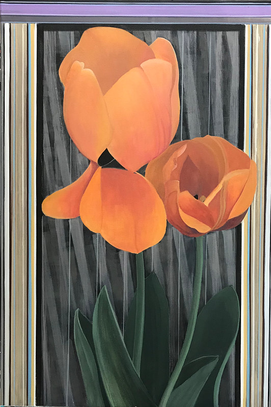 "Acrylic painting ""Tulips Along the Highline"" by Brad Nuorala"