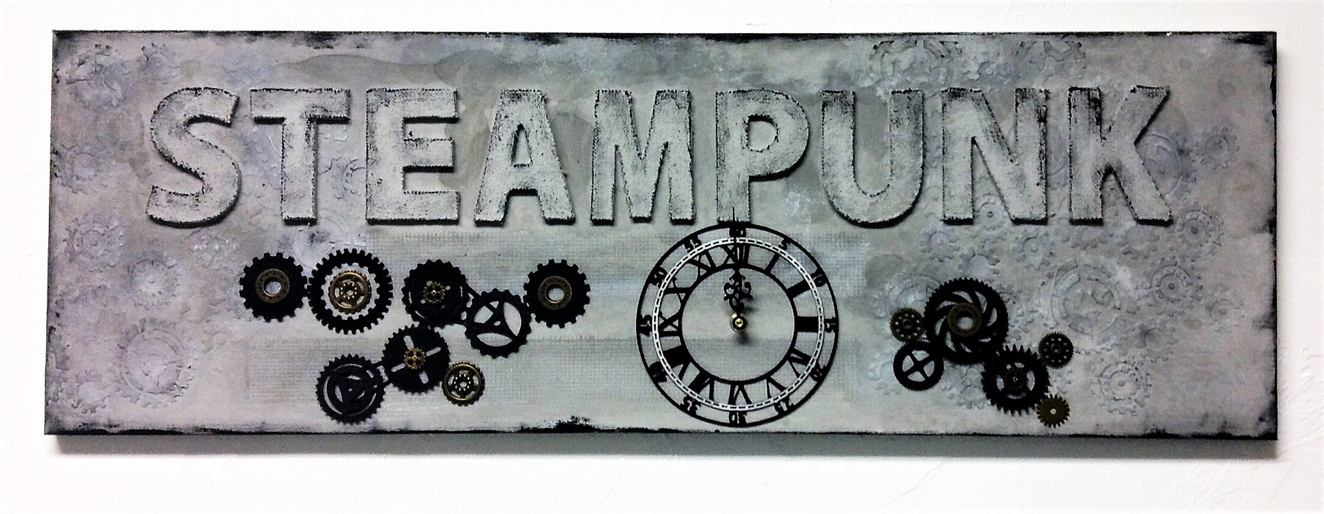 Painting Steampunk Clock by Linda Cohen