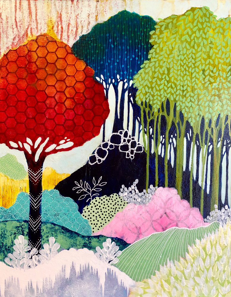Acrylic painting Candied Forest by Simona Zac