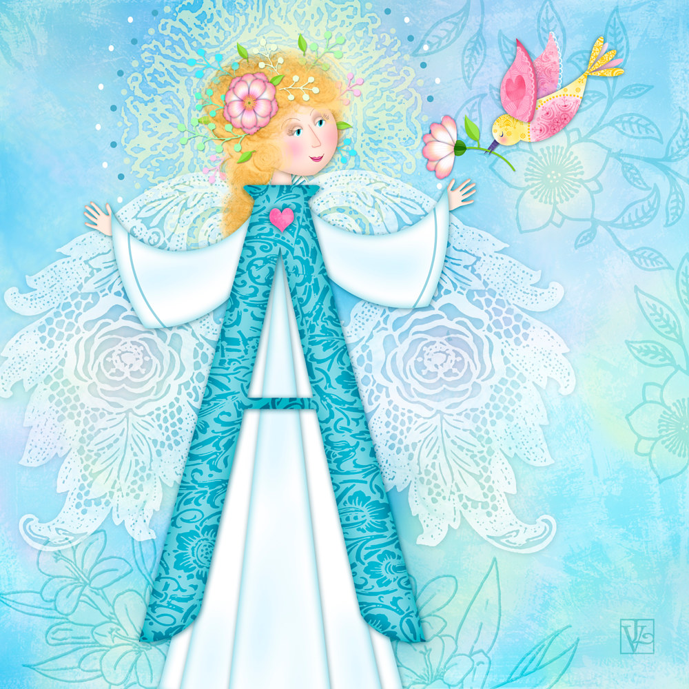 A is for Angel by Valerie Lesiak