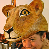 Lion Head Dress for Theater 1 by Pamela Schuller