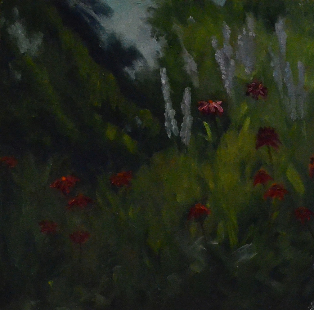 Wind Dancers - 12 x 12, plein air by Patricia Savoie