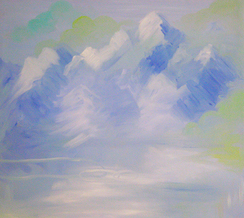 Acrylic painting Pastel Composition 1 by Darcy Martel