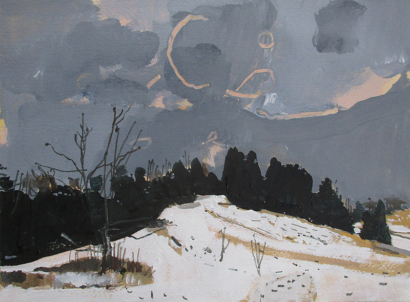 Acrylic painting Toboggan Hill  by Harry Stooshinoff