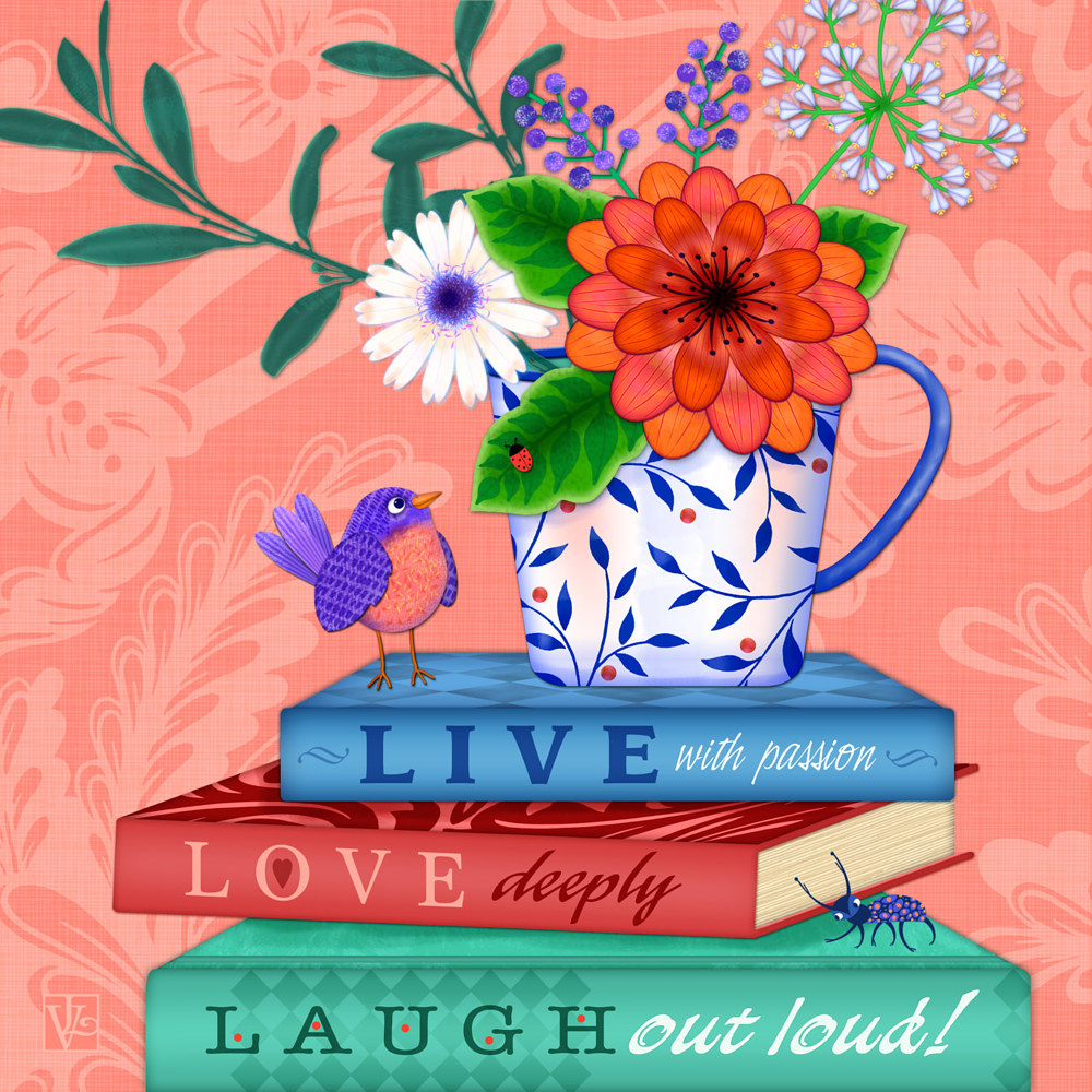 Live! Love! Laugh!  by Valerie Lesiak