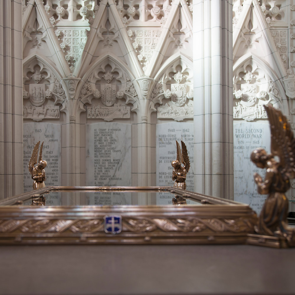 Detail of the main altar containing the Book of Remembrance; Memorial Chamber by Mike Steinhauer