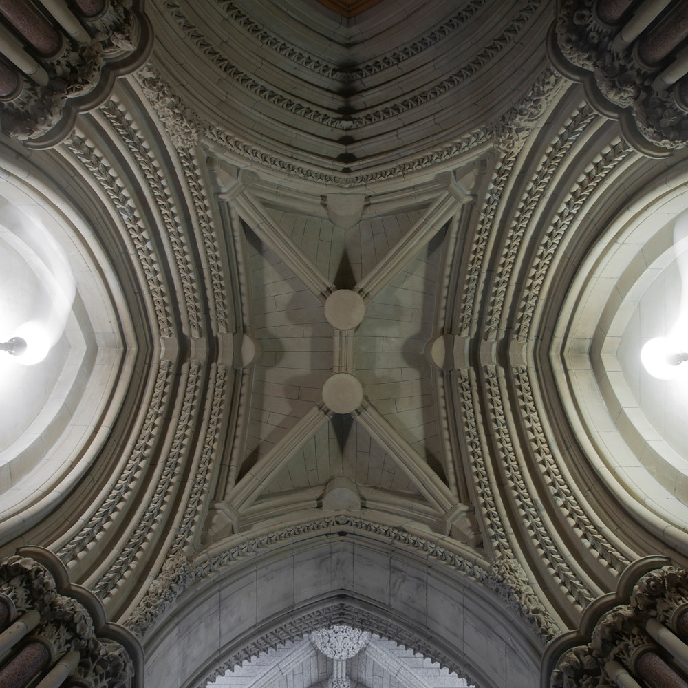 Vaulted ceiling between the Hall of Honour and the Library of Parliament by Mike Steinhauer