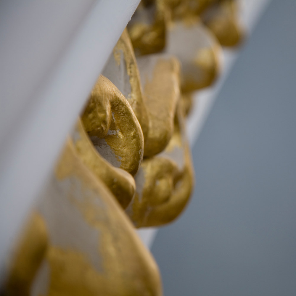 Detail of the gilded decorative elements found within the lantern by Mike Steinhauer