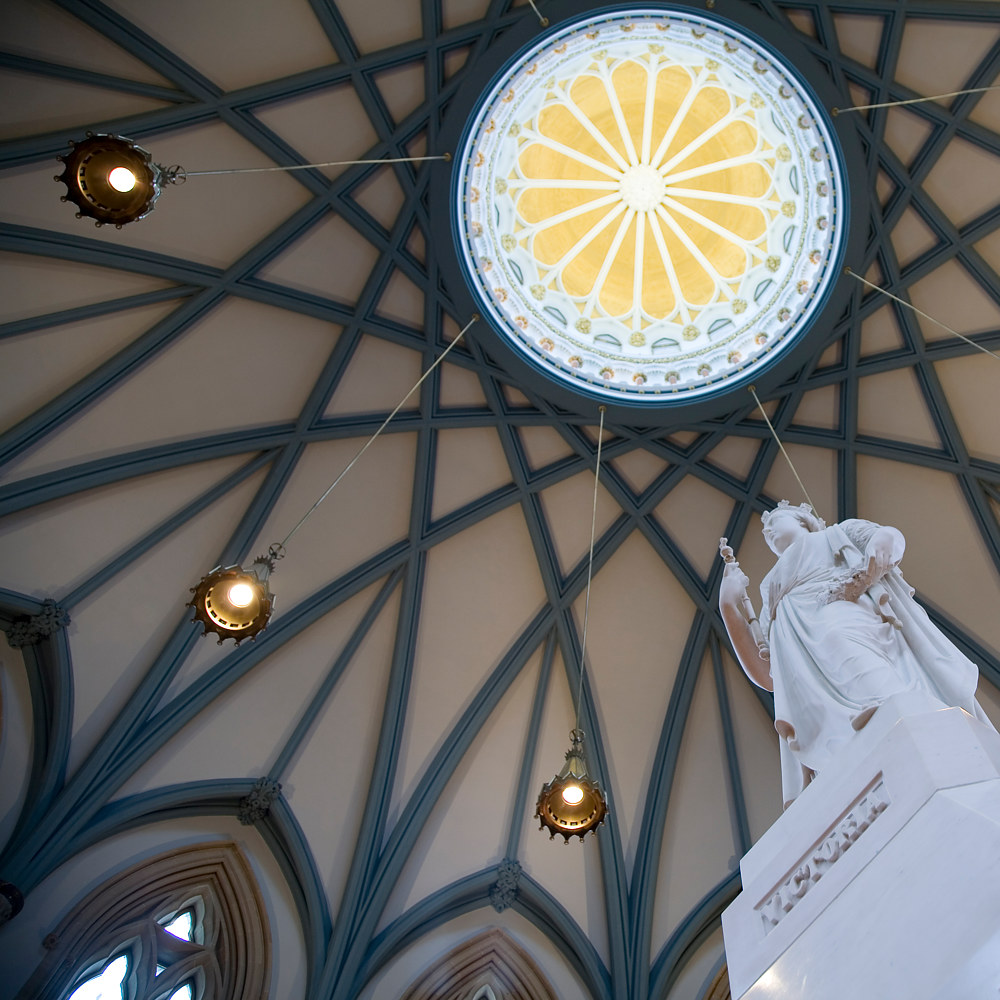 View of the inner dome of the Reading Room  by Mike Steinhauer