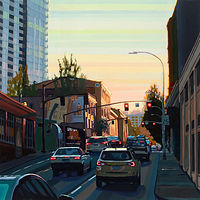 Oil painting Burnside Stripe by Shawn Demarest