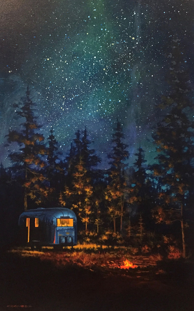 Print Wilderness Camp 24x48 by Bryan  Coombes